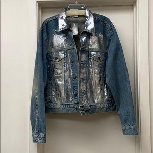 Urban renewal Rag union foil denim jean jacket